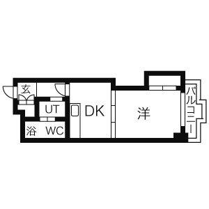 アルファ創成川公園の間取図