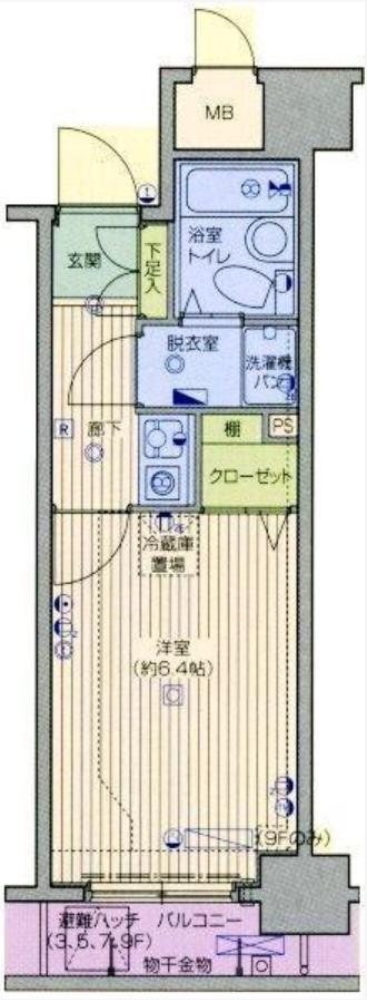 ガラ・ステージ日本橋の間取図