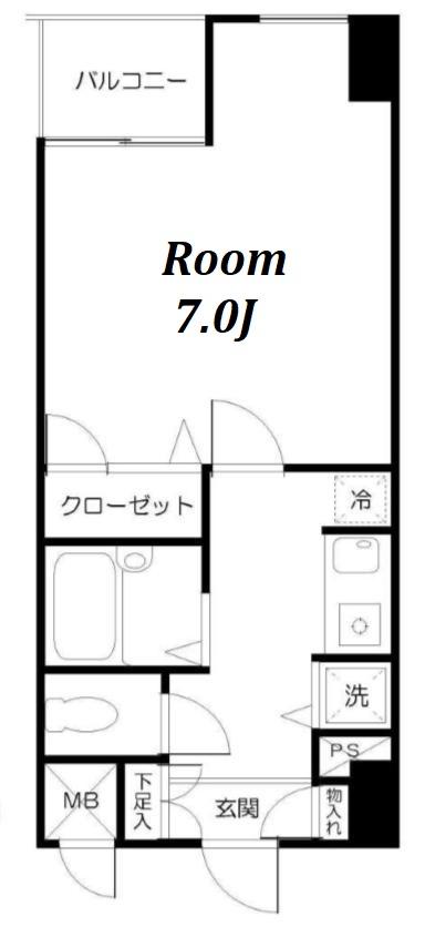エスコート神田岩本町の間取図