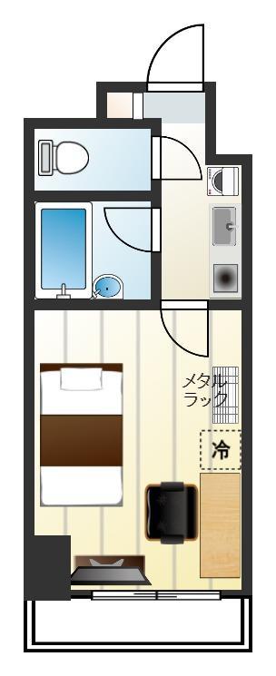 スカイコート日本橋人形町第2の間取図