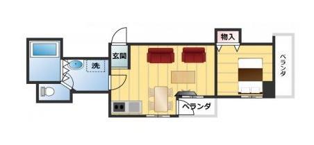 中銀マーブルマンシオン新宿5丁目の間取図