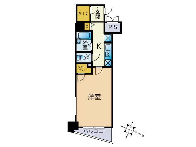 スカイコート渋谷初台の間取図