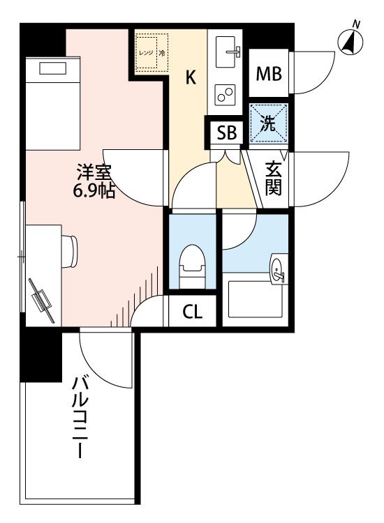 パレステュディオ東京八重洲通りの間取図