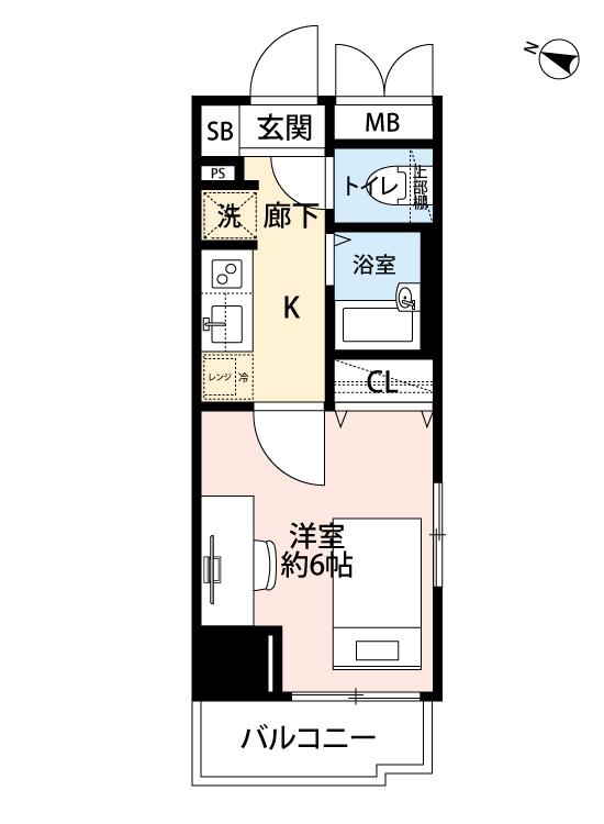 メインステージ西新宿の間取図