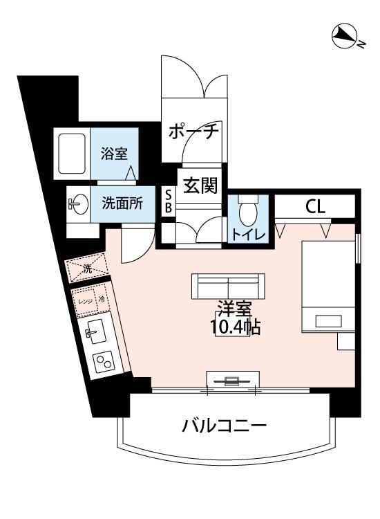 メイクスデザイン渋谷神泉の間取図