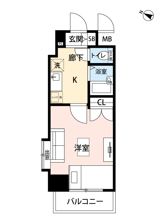 オリオ渋谷西原の間取図