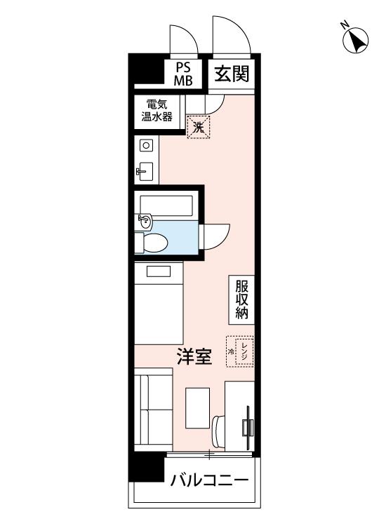 トーカン渋谷キャステールの間取図