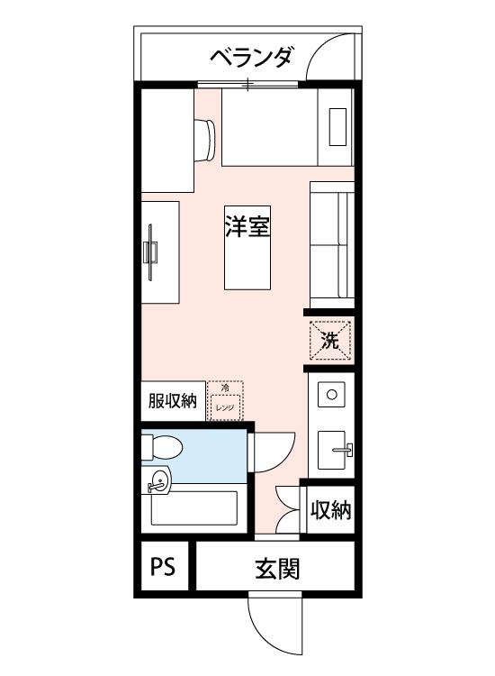 イズミニッティハイツ北新宿の間取図
