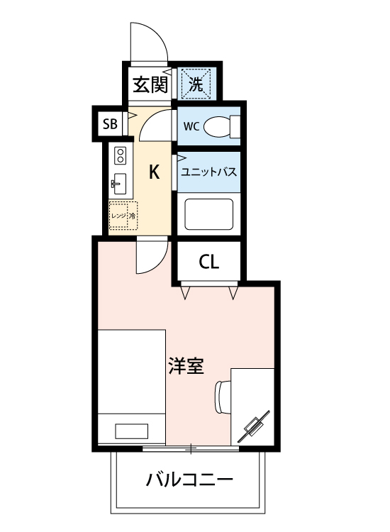 スカイコート新宿第3の間取図