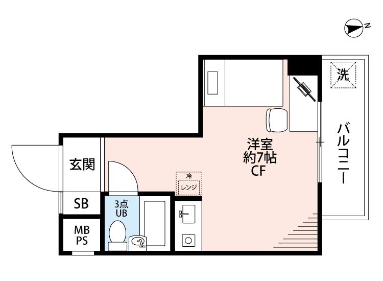 ライオンズマンション西新宿第7の間取図