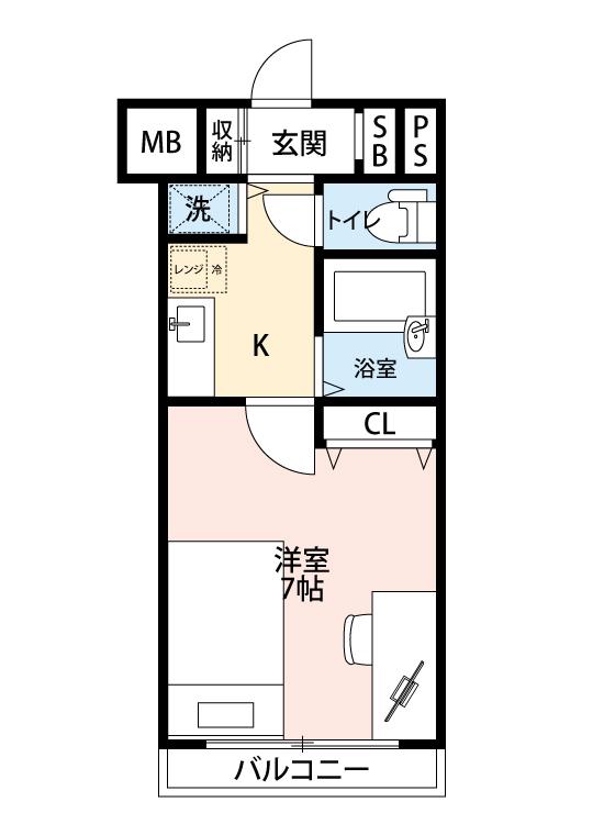 プレール・ドゥーク西新宿の間取図
