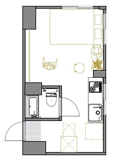 道玄坂アパートメントの間取図