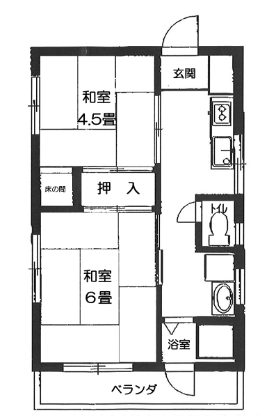 飯塚ビルの間取図