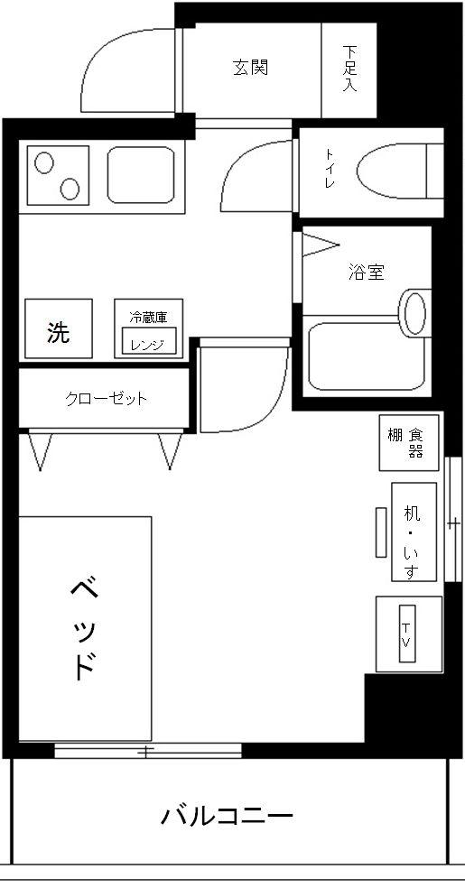 ヴェルト日本橋2ツヴァイトの間取図
