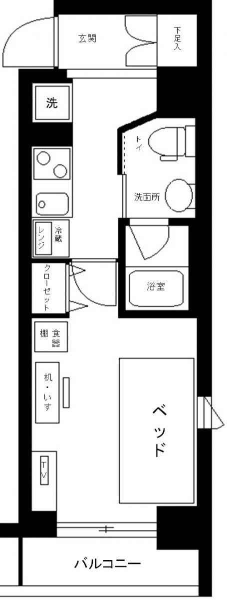ヴェルト錦糸町の間取図