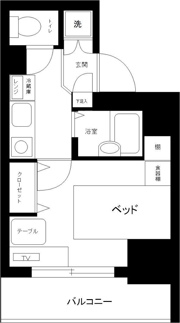 シンシア蒲田ステーションプラザの間取図