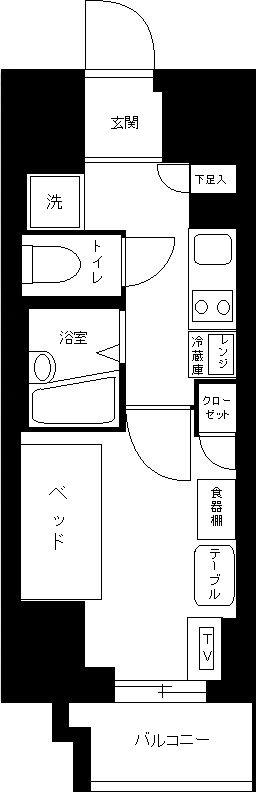 スパシエ エル・ヴィエント・アース板橋タワーの間取図