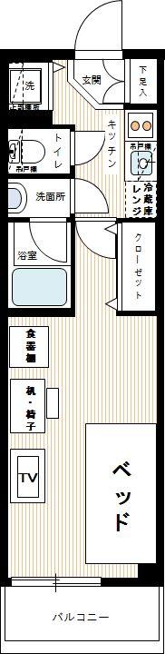プレディアンスフォート錦糸町HY'sの間取図