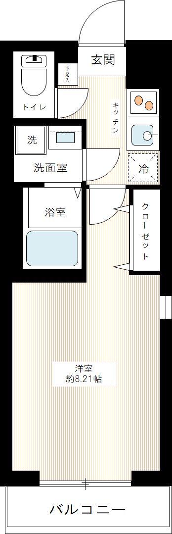 ハーモニーレジデンス東京サウスゲートの間取図