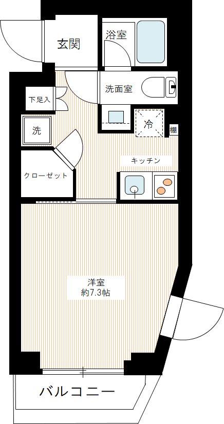 AZEST新江古田の間取図