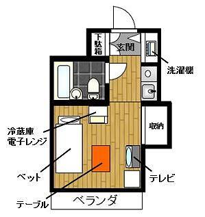 プラティーク渋谷本町 YYYRの間取図