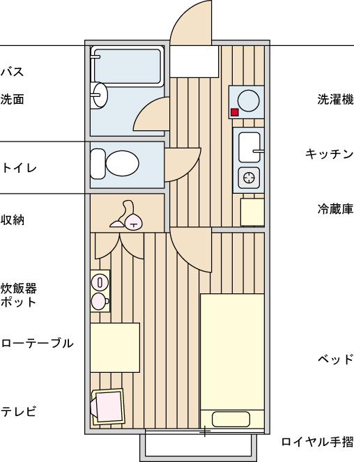 5193クレアーレ瑞江Ⅱ AAASの間取図