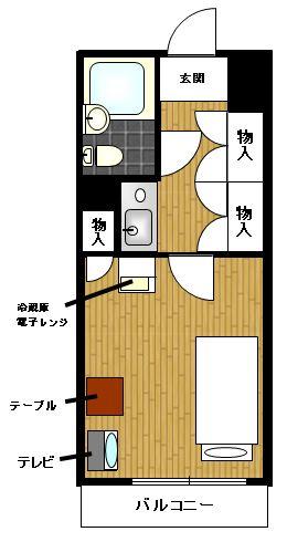 グローリア初穂新宿Ⅱ YYYRの間取図