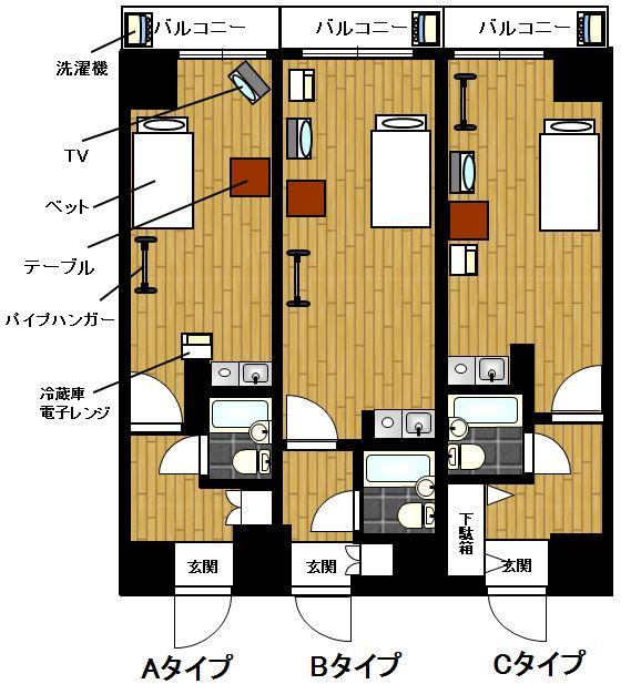7711 花川戸マンション YYYMの間取図