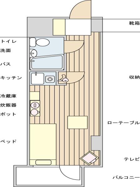 ライオンズプラザ新宿   YYYRの間取図