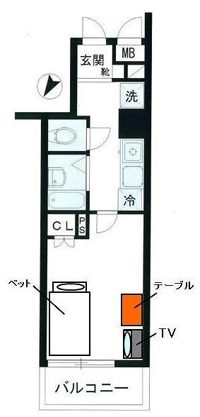 Supreme Tsukishima YYYRの間取図