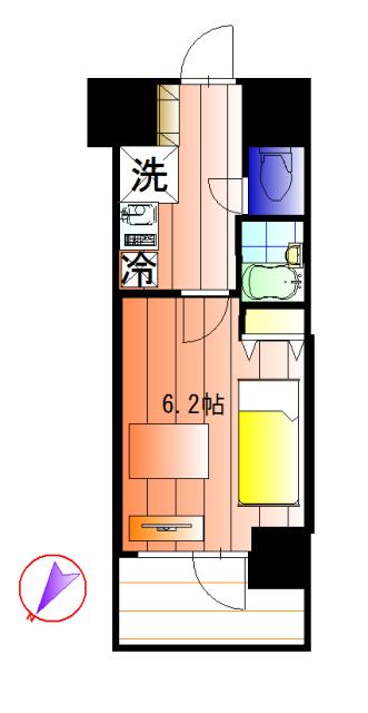 スカイコート蒲田ガーデンの間取図