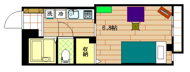 ステップス小川Ⅱの間取図