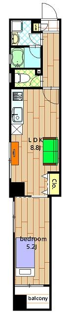 蒲田コリン本社ビルの間取図