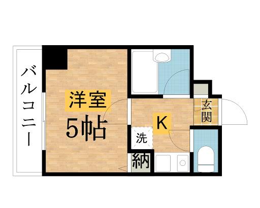 第3サンライズマンションの間取図
