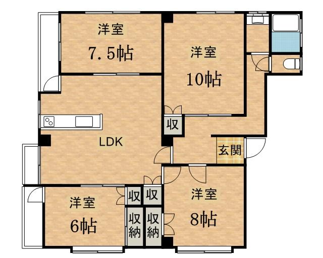 豊和ビル6階の間取図