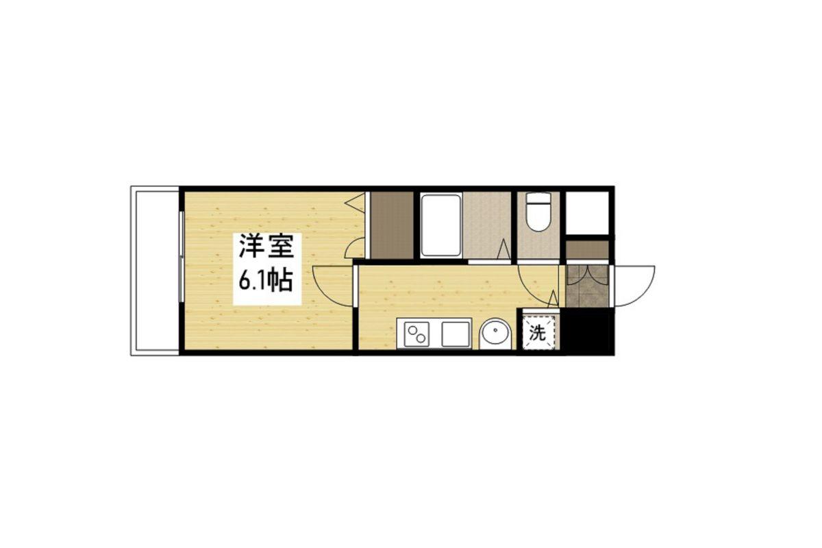 プレミアムコート神戸三宮の間取図