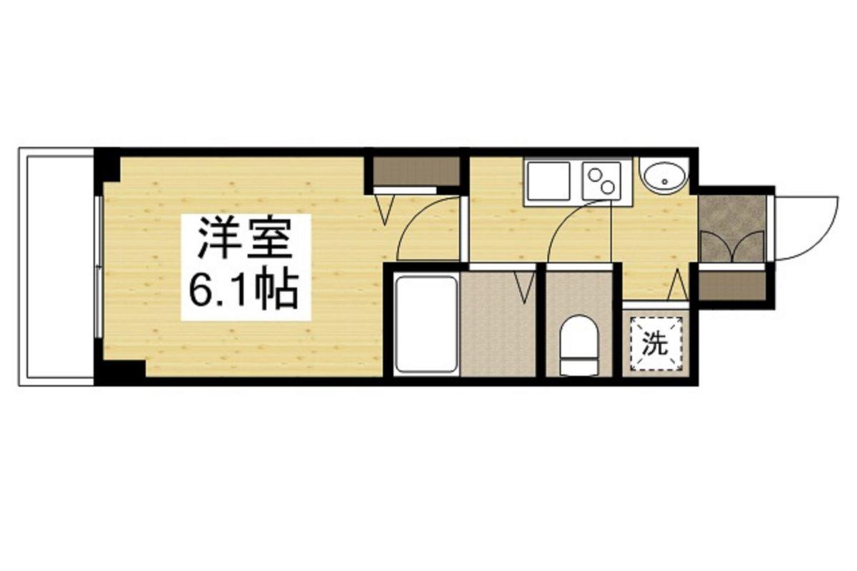 Lala place三宮東アスヴェルの間取図